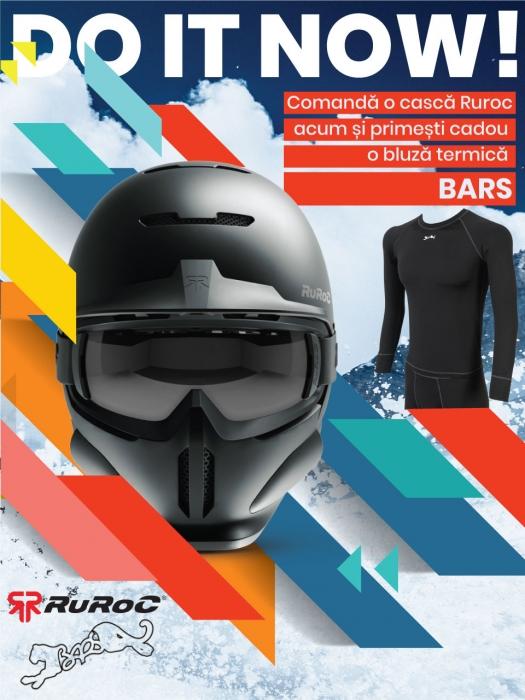 Casca Ruroc RG1-DX Silver Chrome 5
