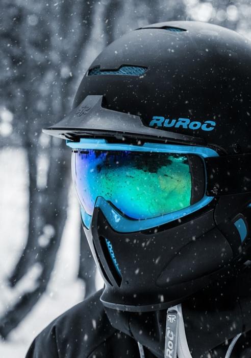 Casca fullface Ruroc RG1-DX Black Ice