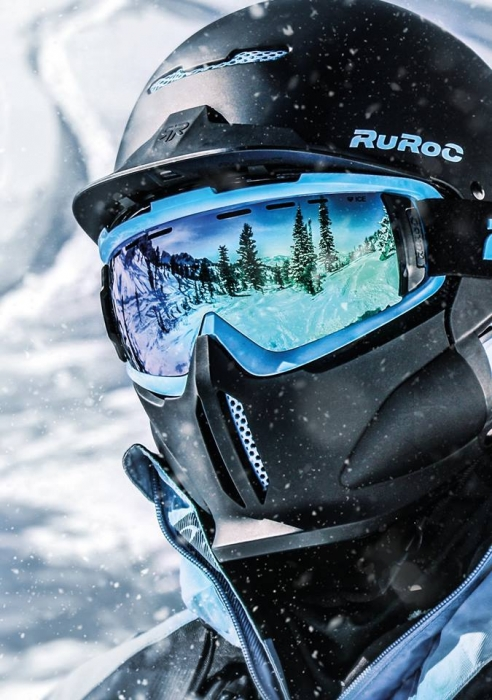 Casca fullface Ruroc RG1-DX Black Ice 2